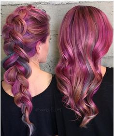 Pulp riot - pink purple orange grey coloured hair curly pastel bright