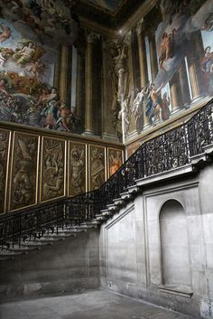 Hampton Court Palace. This is a newer section used after Henry VIII by William and Mary