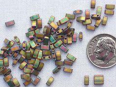 10 GR Miyuki Half Tila Bead TLH 2035 Khaki Iris Metallic Matte | eBay