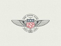 Usa-winged-badge-... #logo #design #inspiration
