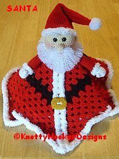 Ravelry: Santa OR Gnome Lovey Blankie pattern by Knotty Hooker Designs   $3.75