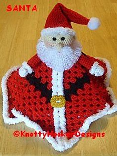 Ravelry: Santa OR Gnome Lovey Blankie pattern by Knotty Hooker Designs   $3.75