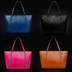 New Women's Genuine Cowhide Shoulder Large Wholesale Pu Leather Handbag Bags