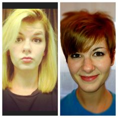 A lil pixie CHANGE!!;)@ salon app;)