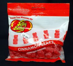 Jelly Belly Cinnamon Bears Favorite Candy, My Favorite Food, Favorite Recipes, Cinnamon Bears, Pokemon, Snack Recipes, Snacks, Jelly Belly, Gummy Bears