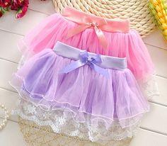 Retail children lace skirt Baby tutu skirt 2015 New Girl's Bowknot Cute Lace Pleated Short Skirt ballet skirt fantasia