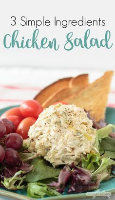 This canned chicken salad recipe uses three ingredients: chicken, mayo and my secret ingredient. This easy homemade chicken salad makes the best sandwich Canned Chicken Salad Recipe, Rotisserie Chicken Salad, Chicken Recipes, Grilled Chicken, Simple Chicken Salad, Salad Chicken, Basic Chicken Salad Recipe Easy, Taco Chicken, Chicken Sandwich