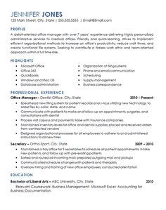 Examples of CVs in the field of health information management - Interviews and Resumes - Health Information Management Resume Luxury Fice Management Resume Examples Examples of CVs in the Professional Resume Examples, Free Resume Examples, Basic Resume, Resume Tips, Sample Resume, Resume Ideas, Good Resume, Resume Writing Samples, Resume Profile Examples