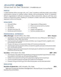 office management resume example office managementresume helpresume examplesdentalmedical - Dental Office Manager Resume Sample