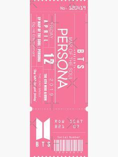 Pop Stickers, Printable Stickers, Bts Concert Tickets, Billet Concert, Bts Book, Bts Polaroid, Ticket Design, Bts Merch, Bts Playlist