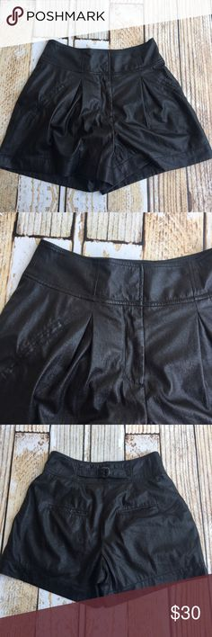 """Rachel Roy faux leather high waisted black shorts Rachel Roy faux leather high waisted black shorts size 4   🍥Bundle deals available (I carry various sizes and brands in my closet): 2 items 10% off, 3 items 15% off, 4 items or more 20% off.  🍥No trades, modeling, or lowball offers please. 🍥All reasonable offers accepted only through """"offer"""" button. Please submit offer willing to pay as I prefer to not counteroffer. 🍥I appreciate you all. Happy Poshing! Rachel Roy Shorts"""