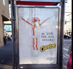 Calling all #Christians #Boycott #Cheetos #Frito-Lay #PepsiCo mocking #JESUS...disgrace!!!!