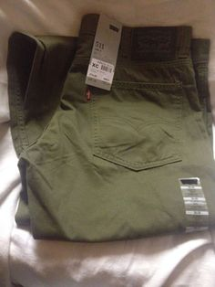 Levi 511 canvas jeans Mens Khaki Green - New with tags - Levi Strauss 38w 32L