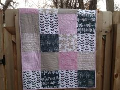 Modern Baby Quilt  Glimma by YourHappyMedium on Etsy, $78.00 this etsy seller makes amazing and reasonably priced quilts!