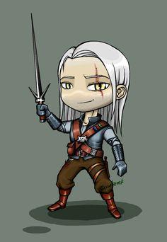 The Witcher - Chibi Geralt by ~Scooterek on deviantART