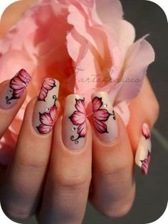 Beautiful floral nail art idea