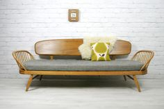 Vintage 1960s Ercol Studio Couch/Daybed.  http://www.ebay.co.uk/itm/120850567458?ssPageName=STRK:MESOX:IT&_trksid=p3984.m1562.l2649  https://www.facebook.com/mustardvintage