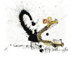 Legendary Cartoonist Ralph Steadman's Inkblot Dog Drawings   Brain Pickings