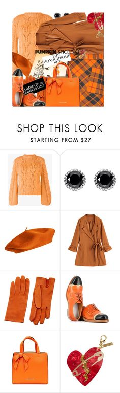 """""""Eliminate the Unnecessary"""" by no-where-girl ❤ liked on Polyvore featuring Ganni, Thomas Sabo, Hermès, Maison Margiela, Suzy Levian, Anne Klein and pumpkinspice"""