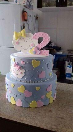 67 ideas for birthday kids cake torte Fondant Cupcakes, Cake Decorating Designs, Cake Designs, Decorating Ideas, Pretty Cakes, Cute Cakes, Deco Cupcake, Bolo Fack, Decoration Patisserie