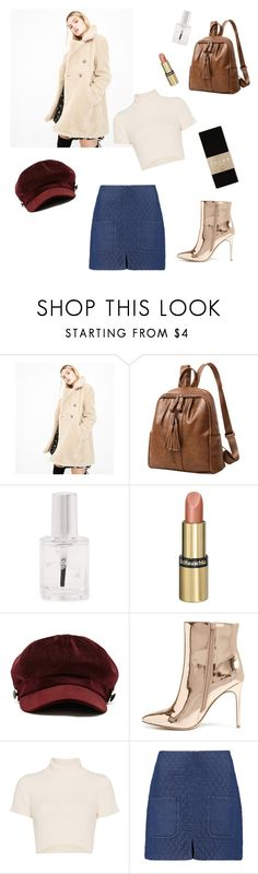 """Untitled #198"" by magnusx ❤ liked on Polyvore featuring Blue Vanilla, Forever 21, Dr.Hauschka, Staud, See by Chloé, Falke and statementcoats"