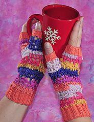 Ravelry: April Fool Fingerless Gloves pattern by Deborah Atkinson