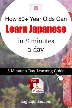 How 50+ Year Olds Can / Learn Japanese / in 5 minutes a day / 5 Minute a Day Learning Guide / linguajunkie.com