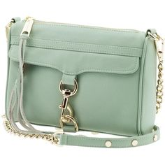 Rebecca Minkoff Mini MAC in Sea Glass. My new baby! Vogue, Shoulder Handbags, Shoulder Bags, Green Leather, Beautiful Bags, Purses And Handbags, Leather Purses, Shoe Bag, Rebecca Minkoff