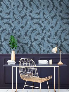 Banana leaves unique wallpaper will look amazing in any space of your modern, scandinavian style home or your trendy restaurant. Repetition of patterns: 60 x 90 cm. This custom made wall mural is available in three different colors. Scandinavian Style Home, Banana Leaves, Unique Wallpaper, Pattern Wallpaper, Wall Murals, Different Colors, Space, Amazing, Modern