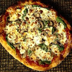 .@Jeff Young   #Pizza # 5: Spinach and mushrooms. #igersneworleans @Baking Steel #bakingsteel   Webstagram - the best Instagram viewer