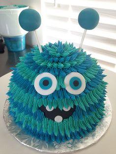 31 Trendy Birthday Party Food For Kids Boys Smash Cakes Monster Smash Cakes, Monster Birthday Cakes, Little Monster Birthday, Monster 1st Birthdays, Monster Birthday Parties, Birthday Cake Smash, Monster Party, 1st Boy Birthday, Birthday Ideas