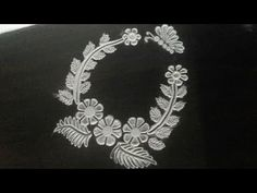 Simple easy rangoli of flowers & Butterfly by Creative Hands - YouTube