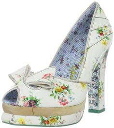 Irregular Choice Women's Flowering Quince Pump Perfect for a fashion forward bride or lover of vintage fashion, this fabulously floral peep toe pump has all the glorious glam a girl could ask for. Shoe Gallery, Irregular Choice, Girly Gifts, Mary Jane Pumps, Peep Toe Shoes, Dream Shoes, Platform Pumps, Me Too Shoes, Heeled Mules