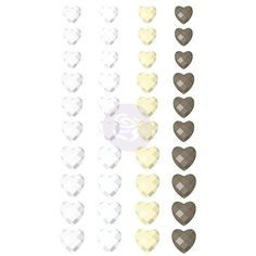 Say It In Crystals - Hearts by Prima Marketing for Scrapbooks, Cards, & Crafting found at FotoBella.com