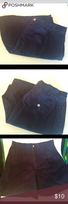 Nice Navy Blue Cherokee Shorts. size 14 This pair of shorts are in wonderful condition. They have no stretch and are 100% Cotton. Cherokee Shorts Bermudas
