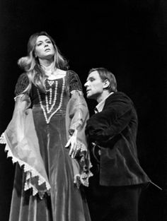Margarita Terekhova (as Queen Gertrude) and Anatoly Solonitsyn (as Hamlet) in Tarkovsky's production of Hamlet (Lenkom Theatre, Moscow, Stratford Upon Avon, Shakespeare, Margarita, Moscow, Theatre, Cinema, Actors, Costumes, Film