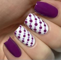 Simple purple dotticure: