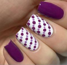 Simple purple dotticure: