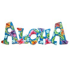 PERSONALIZED  Hawaiian Themed Aloha Sign MAHALO or WELCOME. via Etsy.