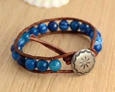 Hey, I found this really awesome Etsy listing at https://www.etsy.com/listing/174503500/blue-wrap-bracelet-nautical-blue-beaded