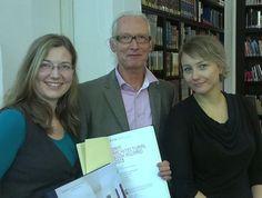 """Award winning book """"Bürgermeisterzimmer"""": Artist Jörg Winde with Constanze Hackmann and Kathleen Herfurth"""