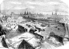 Mexico City, Mexico, mid 19th century (c1880). A print from Cassell's History of the United States, by Edmund Ollier, Volume III, Cassell Petter and Galpin, London, c1880.