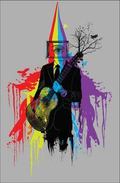 Buy Mousepads Online | Mousepads Online Shopping India | Guitarist Man Artwork | Artist: Pradeep Chauhan | PosterGully
