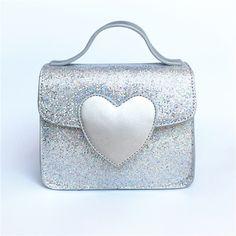 d9568573a3 2017 New Light Love Mini Flap Bling PU Leather Crossbody bag Heart Shape  Hasp Messenger bag
