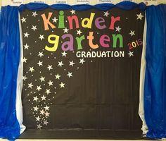 Kindergarten Graduation Backdrop