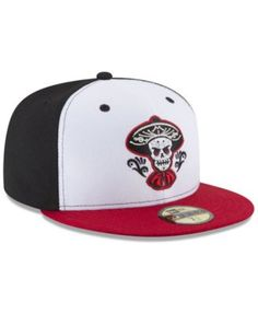 1fc374df4cda4 New Era Albuquerque Isotopes Ac 59FIFTY Fitted Cap - Black White Red 6 7 8