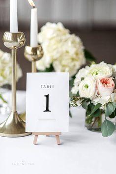 Printable Table Number Cards Woodland Minimalist Wedding