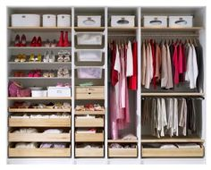 New walk in closet ikea cubbies ideas Ikea Pax Wardrobe, Wardrobe Storage, Wardrobe Closet, Closet Bedroom, Bedroom Storage, Diy Bedroom, Trendy Bedroom, Master Bedroom, Wardrobe Organisation