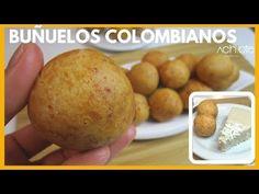 BUÑUELOS COLOMBIANOS | Receta navideña - Buñuelos con queso Espectaculares - YouTube Tamales, Chefs, Feta, Achiote, Cotija Cheese, Coconut Custard, Colombian Food, Professional Chef, Spanish Food