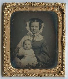 Antique Daguerreotype Mother Angel Daughter ID'D Jennie F Colyer Mrs C w Photo | eBay